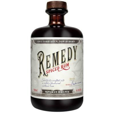 Remedy Spiced Rum Geschenkpackung mit Glas 0,7l   41,5% Vol. - 1