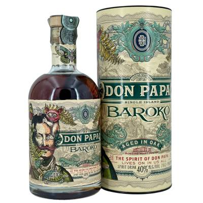 Don Papa Rum Baroko in Geschenkpackung   0,7l  40% Vol. - 1