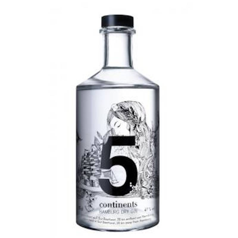 5 Continents Hamburg Dry Gin  0,7l  47% Vol.