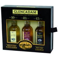 Glencadam Highland Single Malt Triple Pack(10/15/21 Jahre) 3 x 0,05l  46% Vol.
