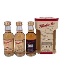 Glenfarclas Single Malt Whisky Tasting Set 10/12/ 105 Proof  3*50 ml. 40/43/ 60% Vol.